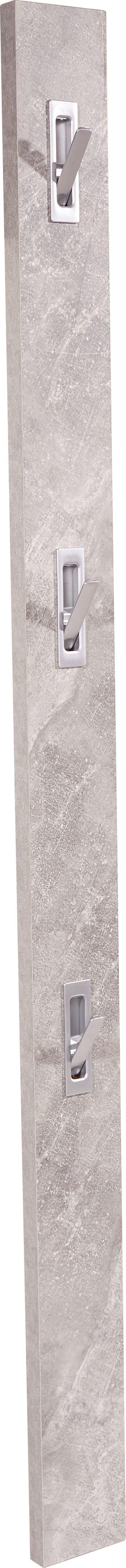 Előszoba Akasztórúd Enzo - szürke, modern, faanyagok (12/175/2,8cm)