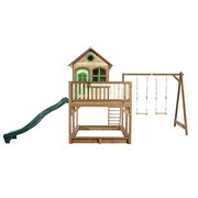 Spielhaus Holz mit Rutsche und Sandkiste Braun Axi Liam - Braun, Holz (588/305/270cm)