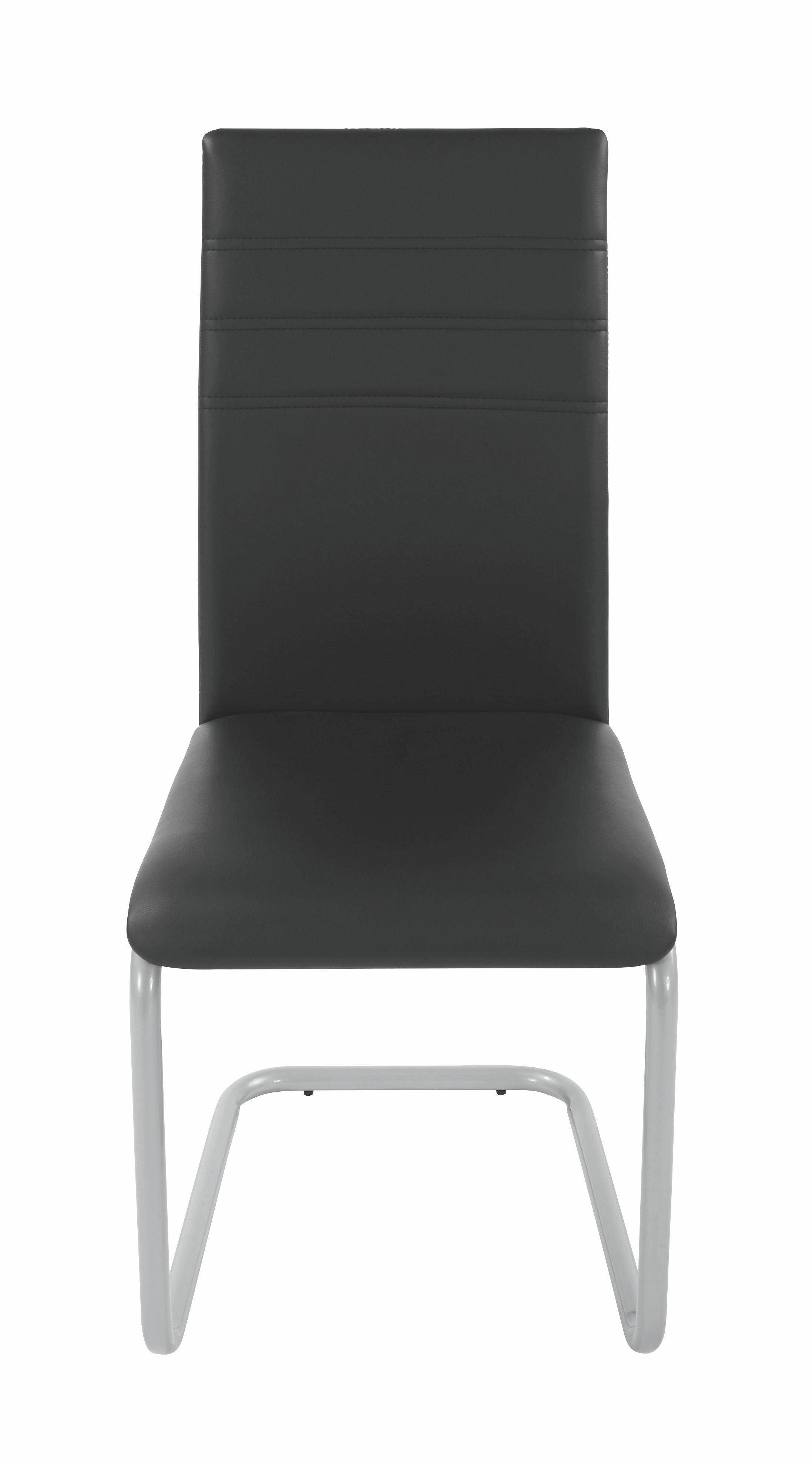 Židle Nina - barvy stříbra/černá, Moderní, kov/dřevo (43/95,5/55,5cm)