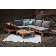 Loungegarnitur Modena - Braun/Grau, MODERN, Holz