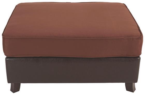 Taburet Elephant - hnedá, Konvenčný, drevo/textil (100/48/80cm) - JAMES WOOD
