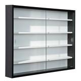 Hängevitrine Collecty B:80cm mit Sicherheitsglas, Schwarz - Schwarz/Weiß, Design, Glas/Holzwerkstoff (80/60/10cm) - Carryhome