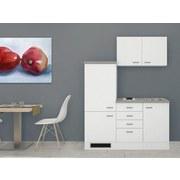 Küchenblock Wito 160 cm Weiß - Weiß/Grau, MODERN, Holzwerkstoff (160/60cm)