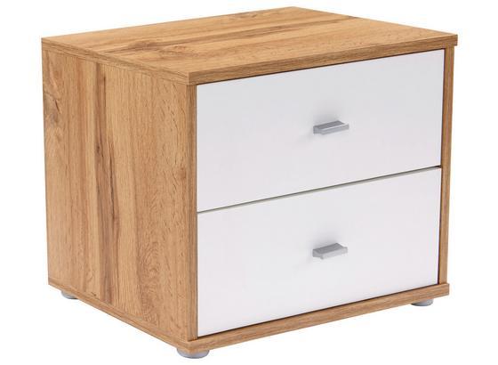Noční Stolek 4-you   *cenový Trhák* - bílá/barvy dubu, Konvenční, kompozitní dřevo (50/38.1/35.2cm)