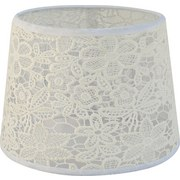 Tienidlo Na Svetlo Rossi - biela, Romantický / Vidiecky, textil (16,5-20/15,6cm) - Mömax modern living