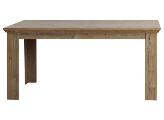Výsuvný Stůl Nepal - barvy smrku, Konvenční, kov/kompozitní dřevo (160-205/75/90cm)