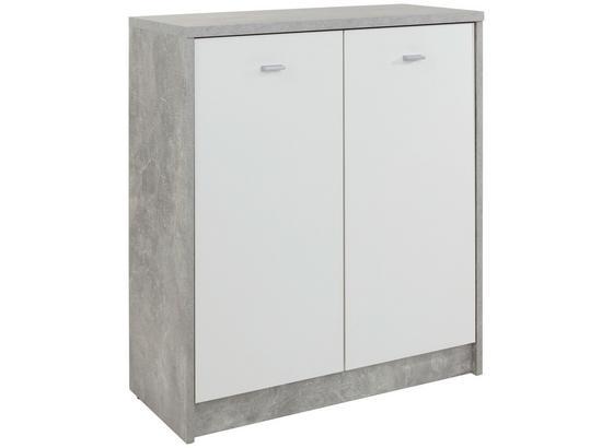 Kommode B 74cm 4-You New, Beton Optik/Weiß - Weiß/Grau, MODERN, Holzwerkstoff (74/85,4/34,6cm)
