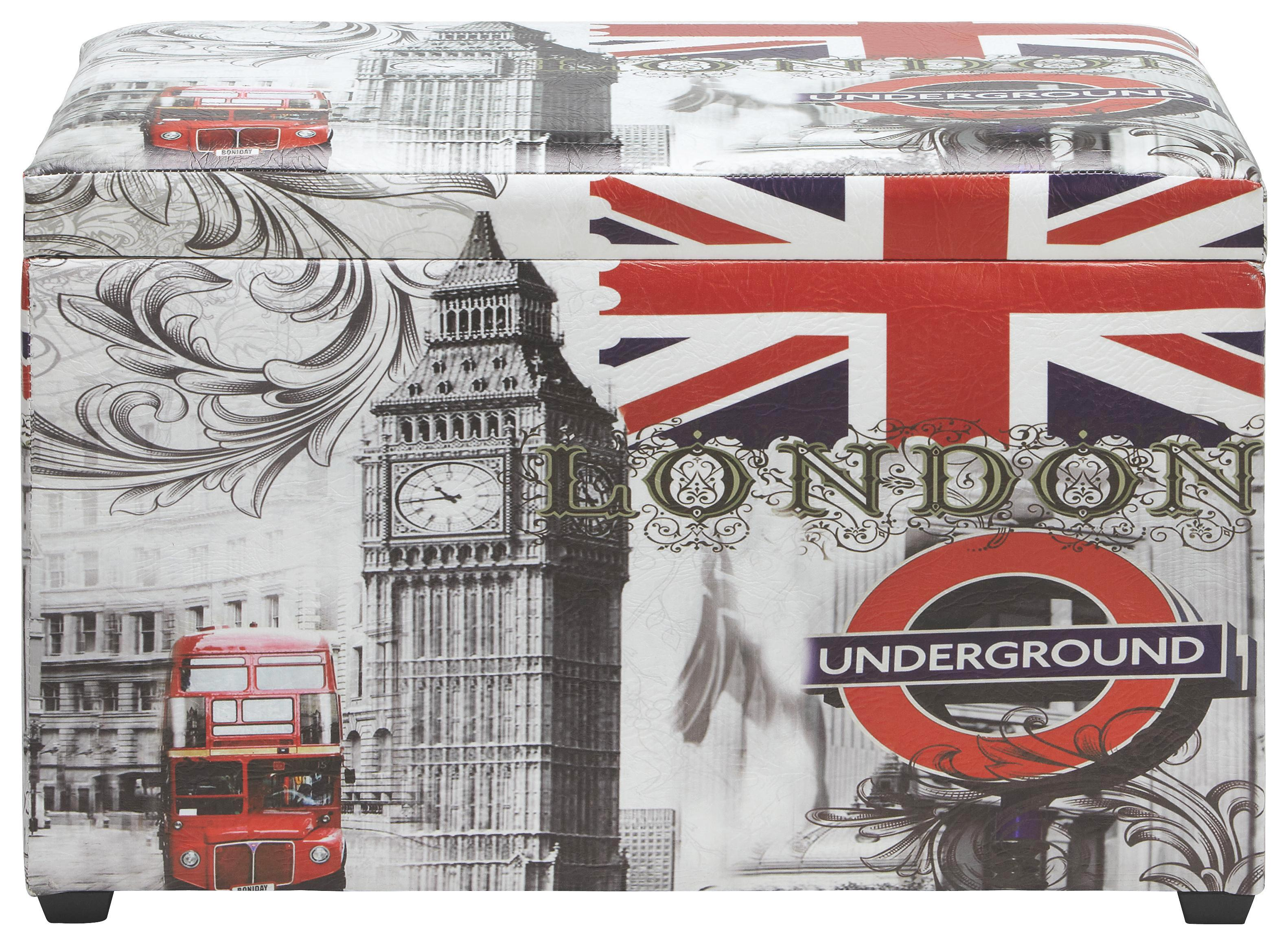 Láda Underground - multicolor, modern, műanyag/fa (65/40/42cm)