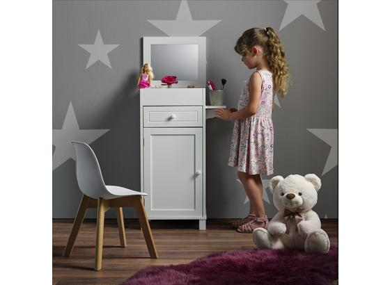 Detská Skrinka Julien - biela, Moderný, drevo/sklo (37,6/81,3/32cm) - Mömax modern living