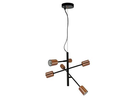 Závesná Lampa Kuno - čierna/medená, Štýlový, kov (55/149cm) - Mömax modern living