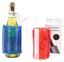 Flaschenkühler mit Klettband - Blau/Rot, Kunststoff (16/33cm)
