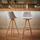 Barová Židle Nelo - světle šedá/barvy buku, Moderní, kov/dřevo (42/100/33cm) - Mömax modern living