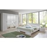 Ložnice Anna 160 - bílá, Moderní, dřevo/dřevěný materiál (225/210/58cm)