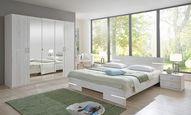Ložnice Anna 160 - bílá, Moderní, dřevo/kompozitní dřevo (225/210/58cm)