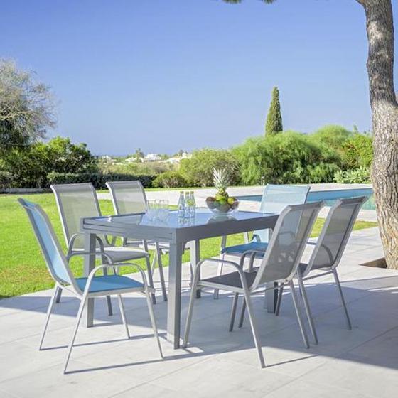 Stohovatelná Židle Stitch - šedá/světle šedá, kov/textil (54/96/76cm) - Mömax modern living