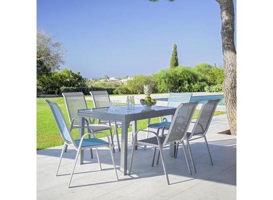 Stohovatelná Židle Stitch - šedá/světle šedá, kov/textilie (54/96/76cm) - Mömax modern living