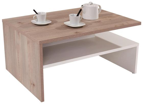 Konferenční Stolek Laura - bílá/barvy dubu, Moderní, kompozitní dřevo (90/42/60cm)
