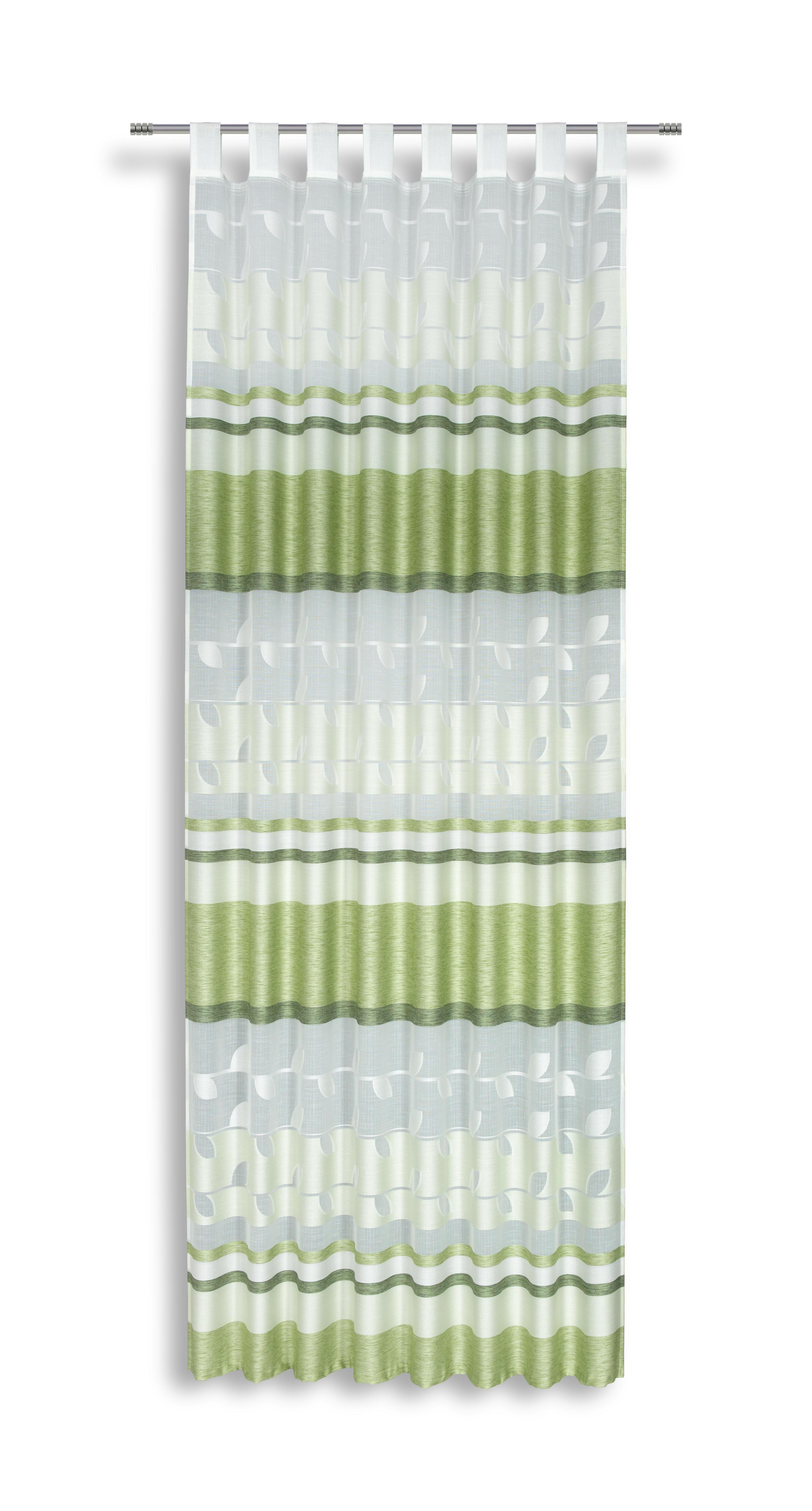 Kombivorhang grün/weiß