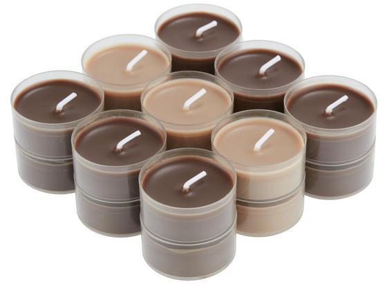 Teelicht Magdalen Schokolade - Klar/Braun, KONVENTIONELL, Metall - Ombra
