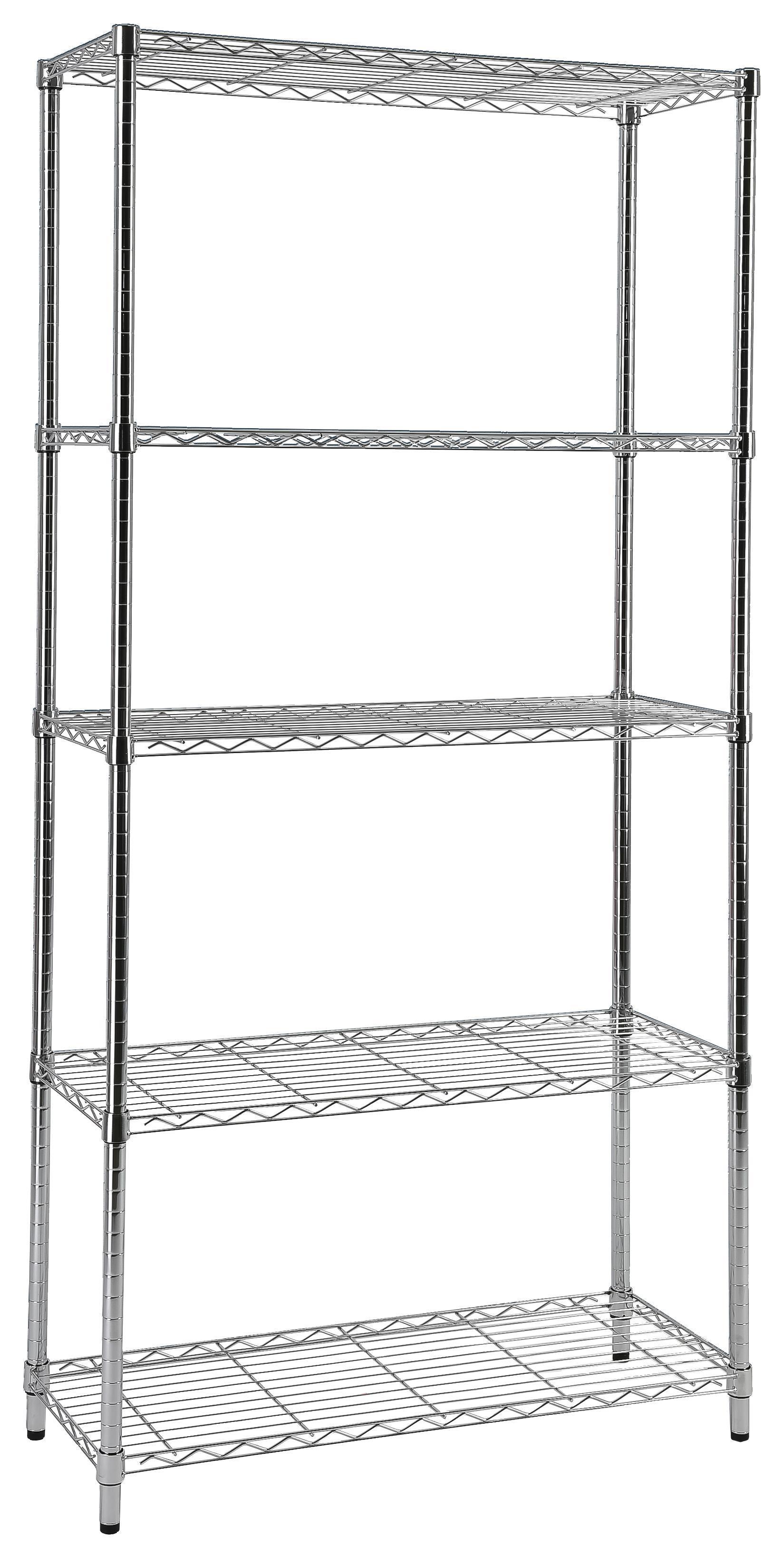 Küchenregal Standregal mit 2//3 Regalböden Schraubregal Metallregal Chrom Regal