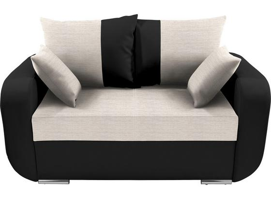 Zweisitzer-Sofa Faro - Chromfarben/Beige, KONVENTIONELL, Holz/Textil (150/90/92cm)