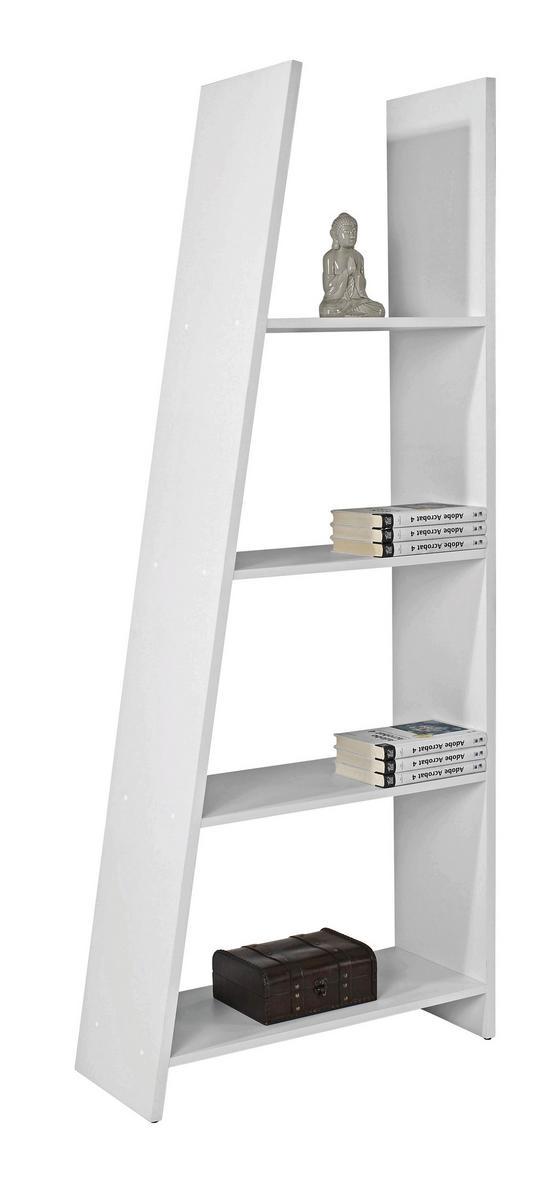 Regál Mike - bílá, Moderní, dřevěný materiál (78.5/190/33cm)