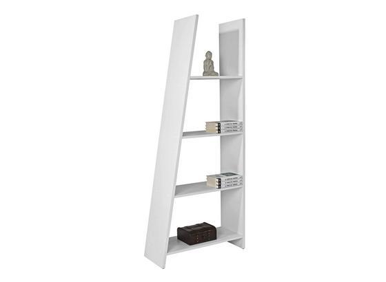 Regál Mike - bílá, Moderní, kompozitní dřevo (78.5/190/33cm)