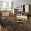 Komoda Mallorca - farby dubu/biela, Moderný, kompozitné drevo (132/90/35cm)