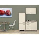 Küchenblock Eico 160 cm Magnolie - Eichefarben/Magnolie, MODERN, Holzwerkstoff (160/60cm)