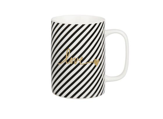 Hrnček Na Kávu Gloria - čierna/biela, Moderný, keramika (7,9/10,8cm) - Mömax modern living