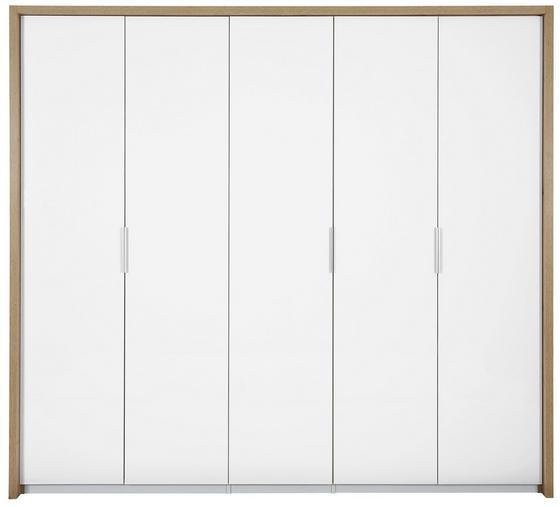 Ruhásszekrény Florenz - tölgy színű/fehér, konvencionális, faanyagok (231/214/61cm)