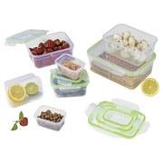 Frischhaltedose Gourmetmaxx Klick-It 28tlg - Klar/Lila, Basics, Kunststoff