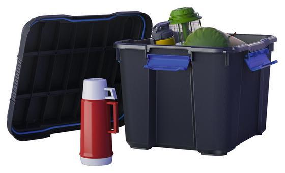 Aufbewahrungsbox Scuba M Premium 43l Schwarz - Blau/Schwarz, KONVENTIONELL, Kunststoff (49,4/39/34cm) - Keter