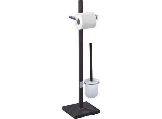Držák Na Toaletní Papír Mode - antracitová, Moderní, kov (22/76/18cm) - Homezone