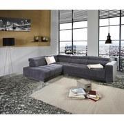 Wohnlandschaft Hogan La - Silberfarben/Grau, MODERN, Holz/Textil (212/299cm) - Luca Bessoni