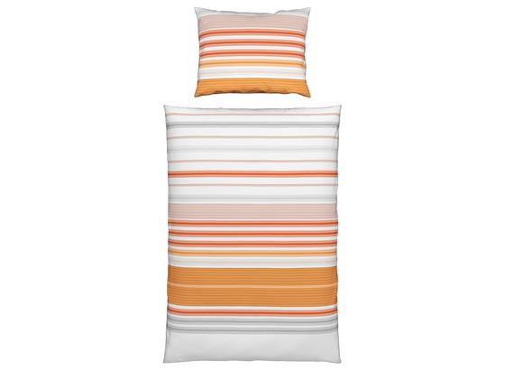 Bettwäsche Samantha - Orange, KONVENTIONELL, Textil - Ombra