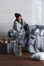 Dekoračný Vankúš Dubai - strieborná, textil (50/30cm) - Mömax modern living