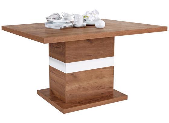 Jídelní Stůl Avensis 140 - bílá/barvy dubu, Moderní, kompozitní dřevo (140/76,7/90cm) - Luca Bessoni