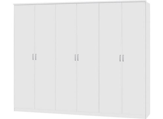 Drehtürenschrank 271cm Lemgo, Weiß Dekor - Weiß, KONVENTIONELL, Holz (271/212/54cm)