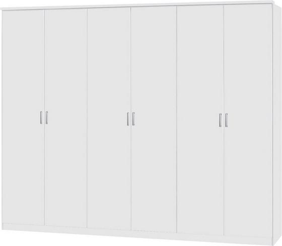 Kleiderschrank Lemgo 271cm - Weiß, KONVENTIONELL, Holz (271/212/54cm)