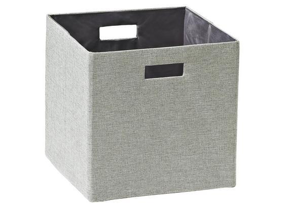 Skladací Box Bobby - strieborná, Moderný, plast/papier (33/33/32cm) - Mömax modern living