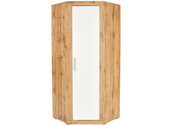 Rohová Skříň Frame - bílá, Konvenční, kompozitní dřevo (81/200/81cm)