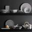 Sada Podtácků Shiva - bílá/černá, Lifestyle, keramika (10/10cm) - Mömax modern living