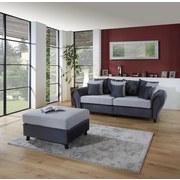 Megasofa Living - Wengefarben/Hellgrau, ROMANTIK / LANDHAUS, Holz/Textil (265/82-102/108cm) - James Wood