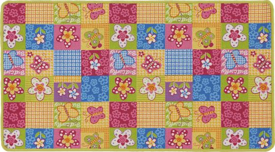 Kinderteppich Butterfly 133x180 cm - Multicolor, KONVENTIONELL, Textil (133/180cm)
