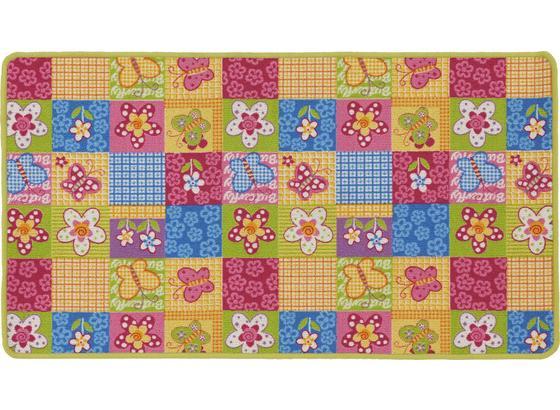 Kinderteppich Butterfly 67x120 cm - Multicolor, KONVENTIONELL, Textil (67/120cm)