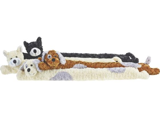 Zarážka Proti Průvanu Zvířata -ext- - bílá/černá, textil (10/90cm) - Mömax modern living