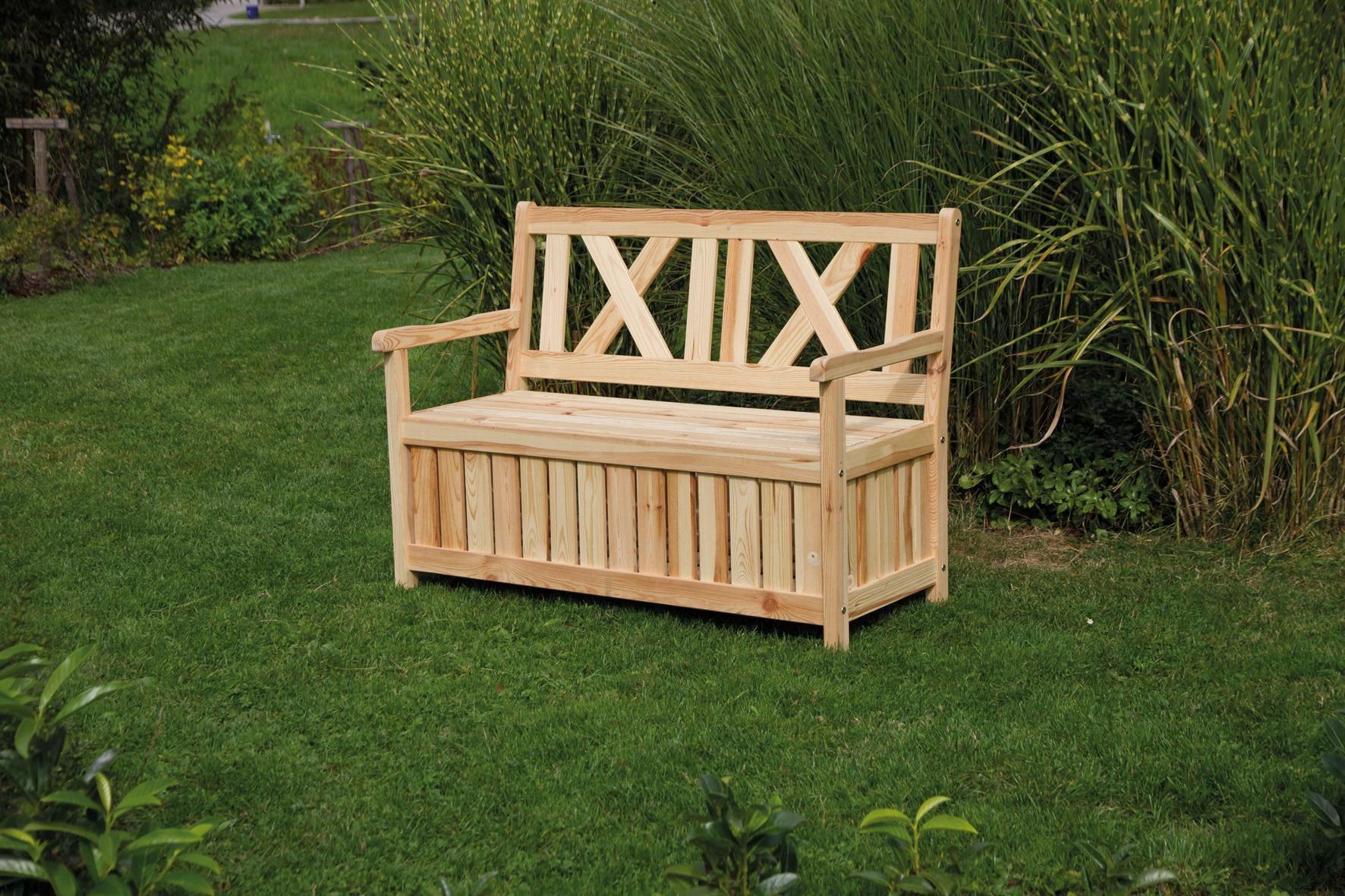 gartenbank-thor-kieferfarben-modern-holz Tolle Gartenbank Holz Ohne Armlehne Design-ideen