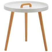 Príručný Stolík Uta - bílá/barvy pinie, Moderní, dřevo (49,5/49,5cm) - Mömax modern living
