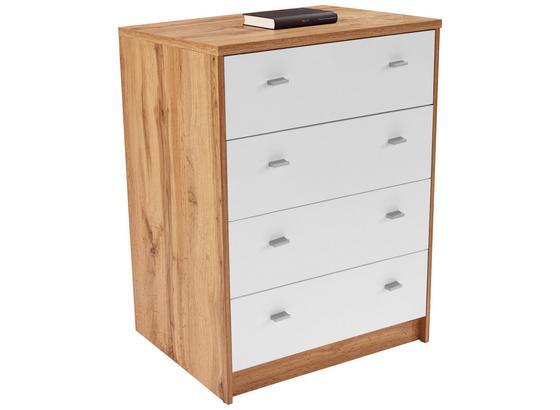 Komoda 4-you New Yuk06 - farby dubu/biela, Moderný, kompozitné drevo (74/85,4/44,5cm)